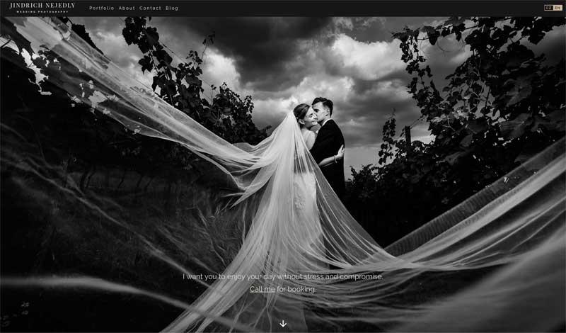 Prague wedding photographer website Jindrich Nejedly